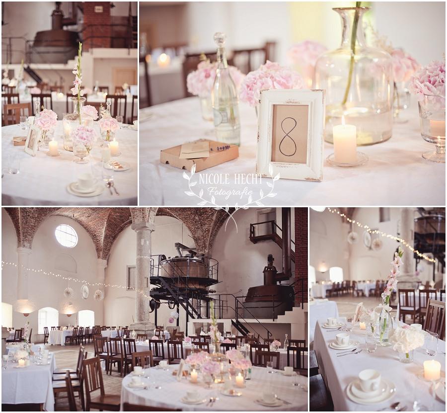 Tischdekoration Hochzeit Sudhaus Schwarzach Hochzeit Bayerischer